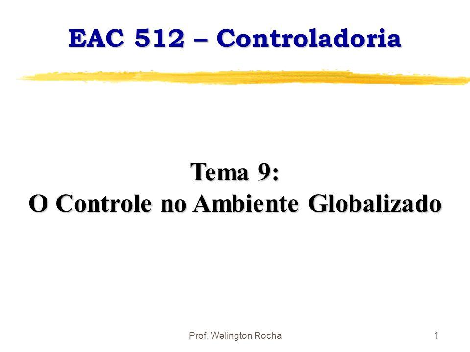 Prof. Welington Rocha1 EAC 512 – Controladoria Tema 9: O Controle no Ambiente Globalizado
