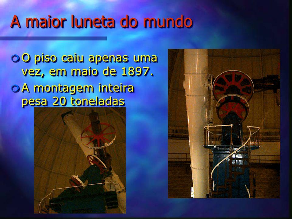 A maior luneta do mundo O piso caiu apenas uma vez, em maio de 1897.
