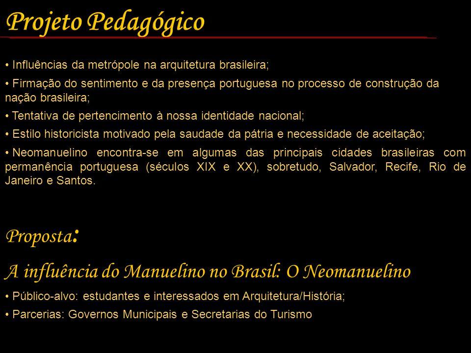 Influências da metrópole na arquitetura brasileira; Firmação do sentimento e da presença portuguesa no processo de construção da nação brasileira; Ten