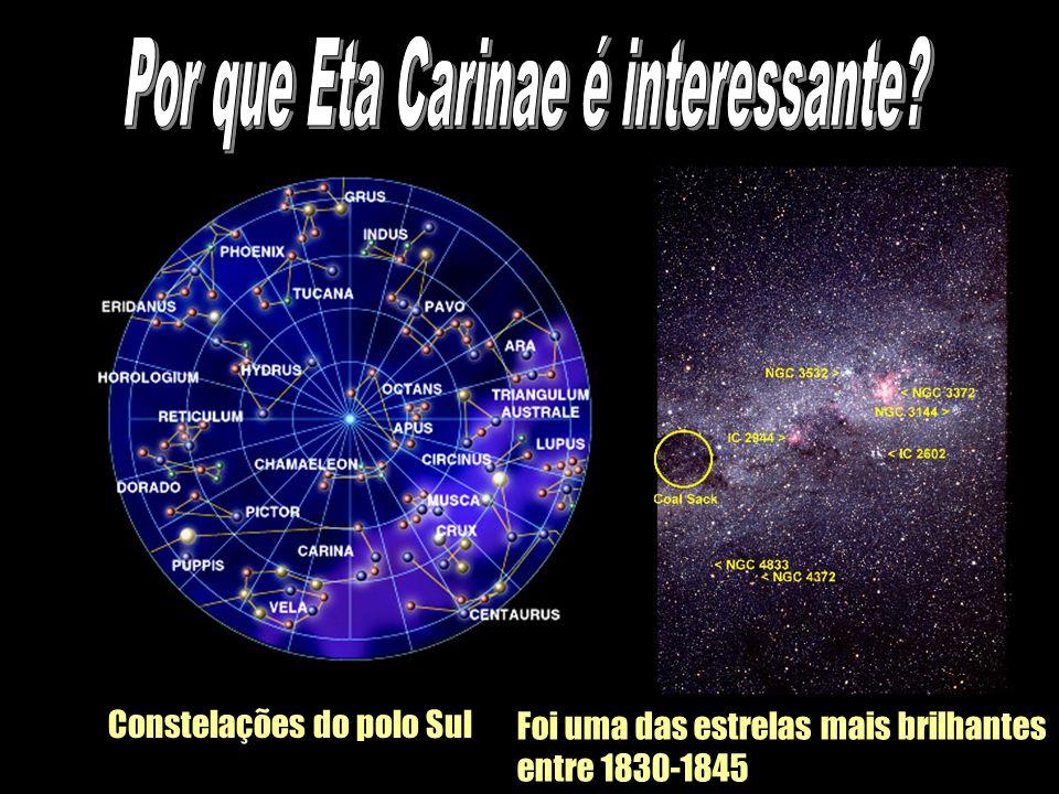 Constelações do polo Sul Foi uma das estrelas mais brilhantes entre 1830-1845