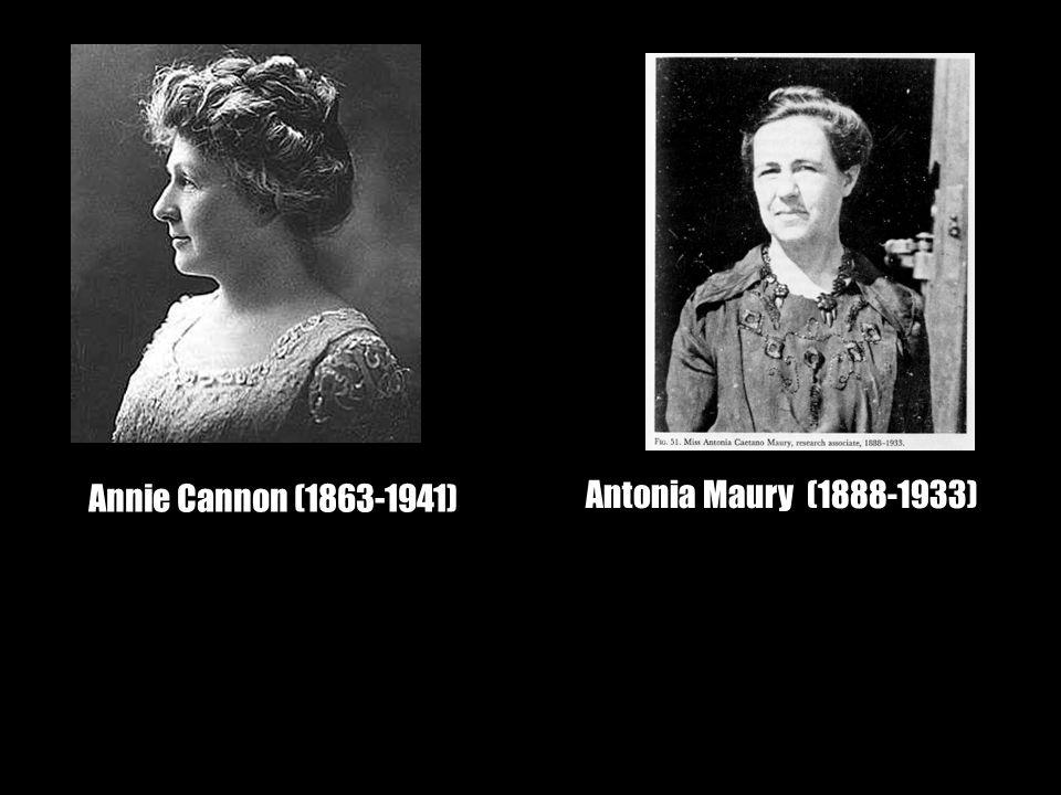 Annie Cannon (1863-1941) Antonia Maury (1888-1933)