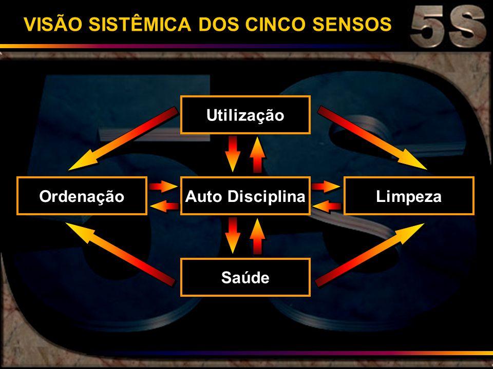 VISÃO SISTÊMICA DOS CINCO SENSOS Utilização OrdenaçãoAuto DisciplinaLimpeza Saúde