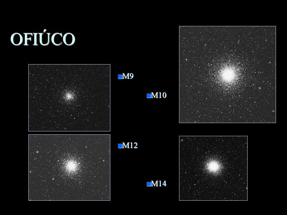 OFIÚCO n O Serpentário n Objetos importantes: –M9 –M10 –M12 –M14 –Rho Ophiuchi –Plutão