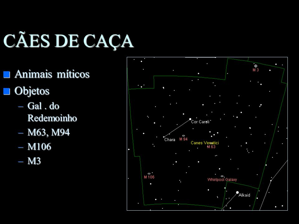 n Grande Navio Mitológico n Objetos importantes –M46,47,93 –Nebulosa de eta carinae