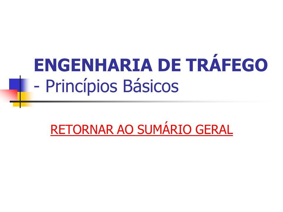 ENGENHARIA DE TRÁFEGO - Princípios Básicos RETORNAR AO SUMÁRIO GERAL