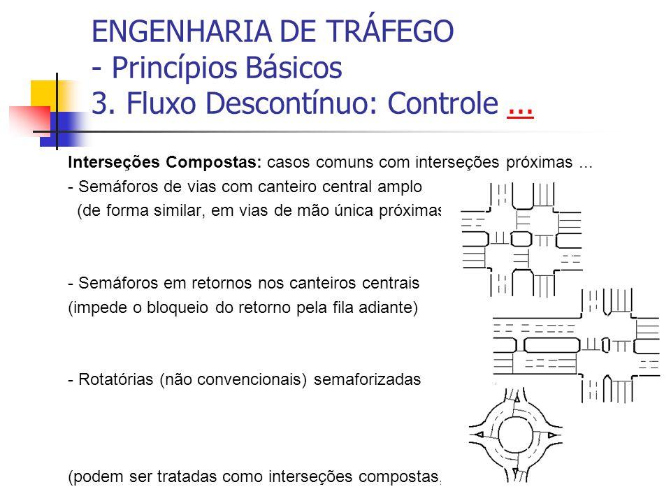 ENGENHARIA DE TRÁFEGO - Princípios Básicos 3. Fluxo Descontínuo: Controle...... Interseções Compostas: casos comuns com interseções próximas... - Semá