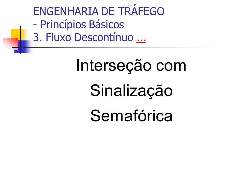 ENGENHARIA DE TRÁFEGO - Princípios Básicos 3. Fluxo Descontínuo...... Interseção com Sinalização Semafórica