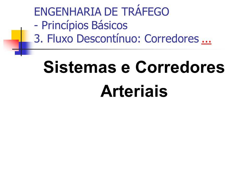 ENGENHARIA DE TRÁFEGO - Princípios Básicos 3. Fluxo Descontínuo: Corredores...... Sistemas e Corredores Arteriais
