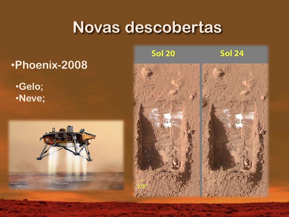Novas descobertas Phoenix-2008 Gelo; Neve;