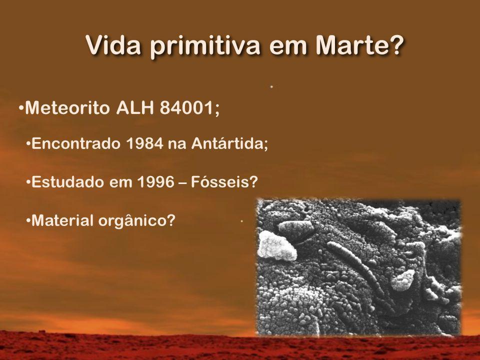 Vida primitiva em Marte.
