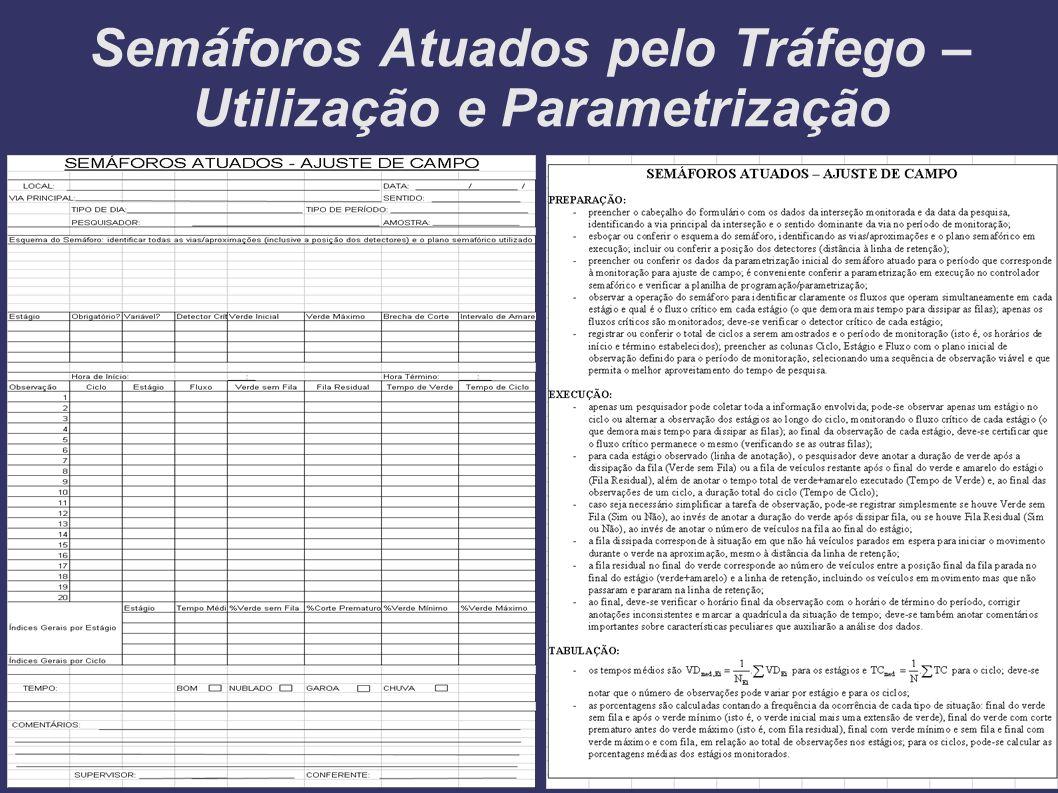 Semáforos Atuados pelo Tráfego – Utilização e Parametrização Ajuste de Campo...