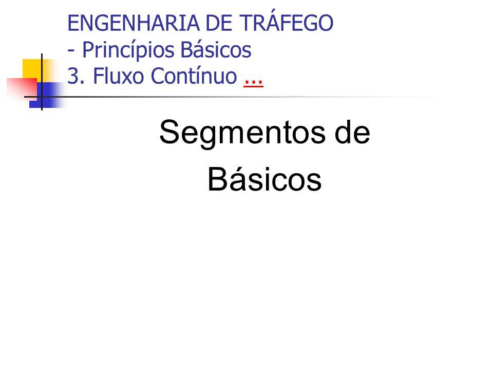 ENGENHARIA DE TRÁFEGO - Princípios Básicos 3. Fluxo Contínuo...... Segmentos de Básicos