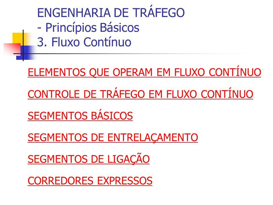 ENGENHARIA DE TRÁFEGO - Princípios Básicos 3.Fluxo Contínuo: Controle......