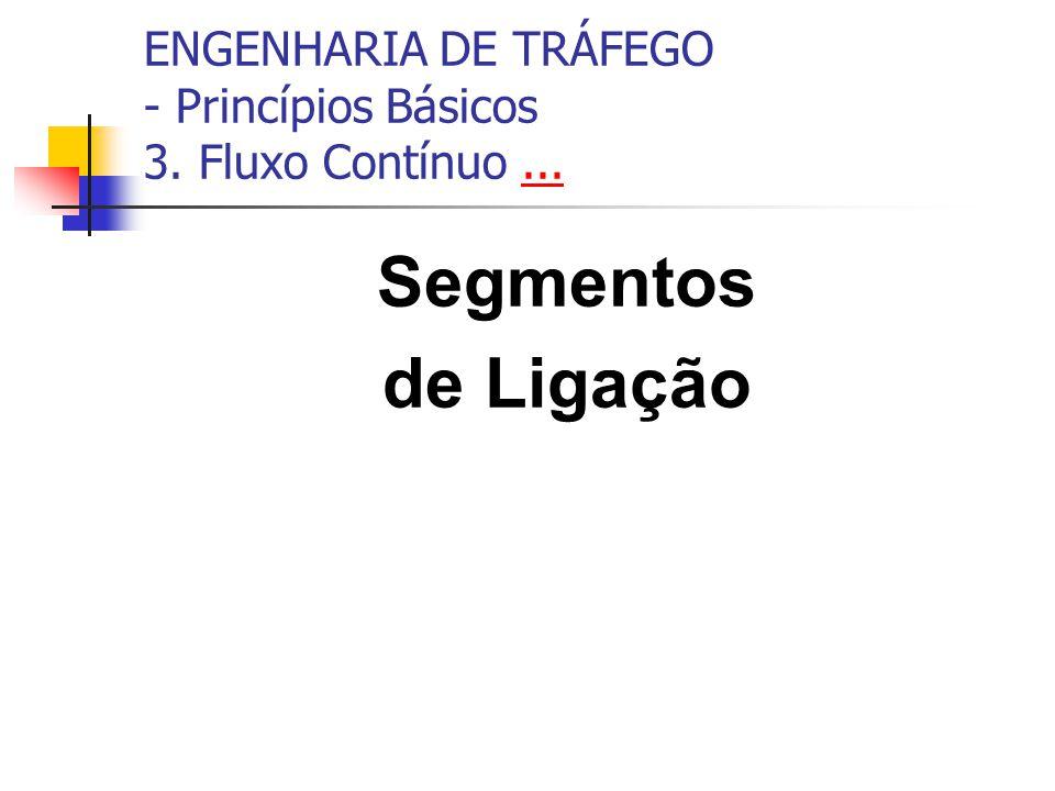 ENGENHARIA DE TRÁFEGO - Princípios Básicos 3. Fluxo Contínuo...... Segmentos de Ligação