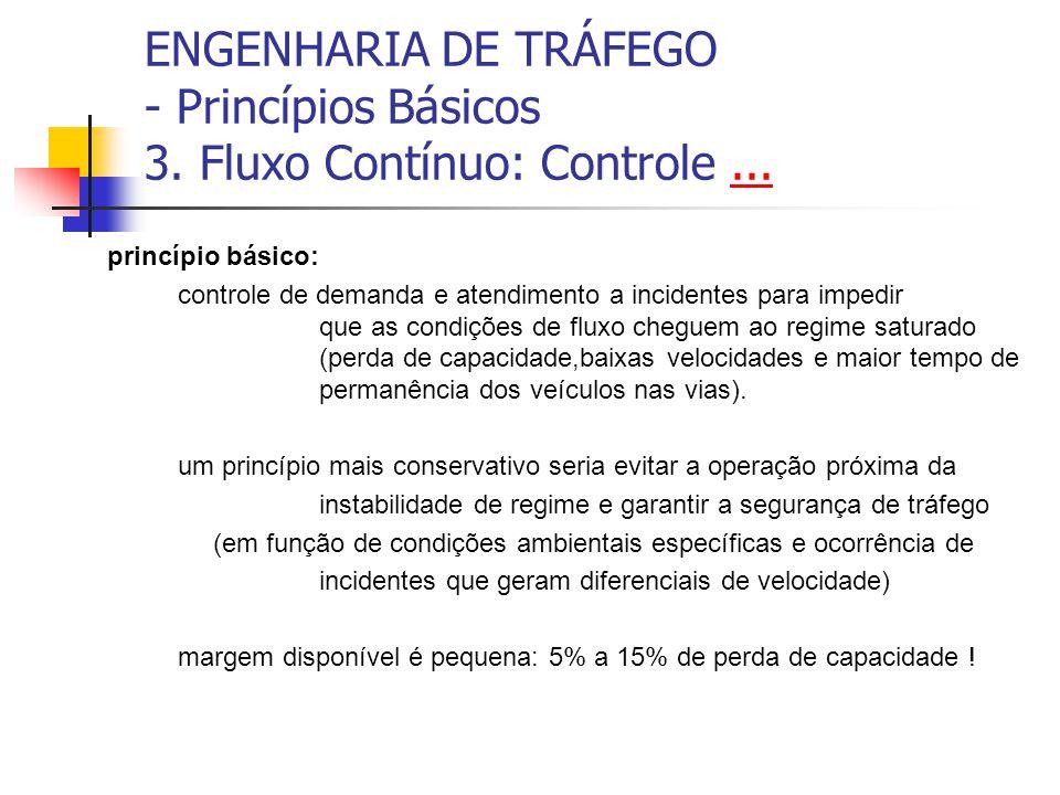 ENGENHARIA DE TRÁFEGO - Princípios Básicos 3. Fluxo Contínuo...... Corredores Expressos