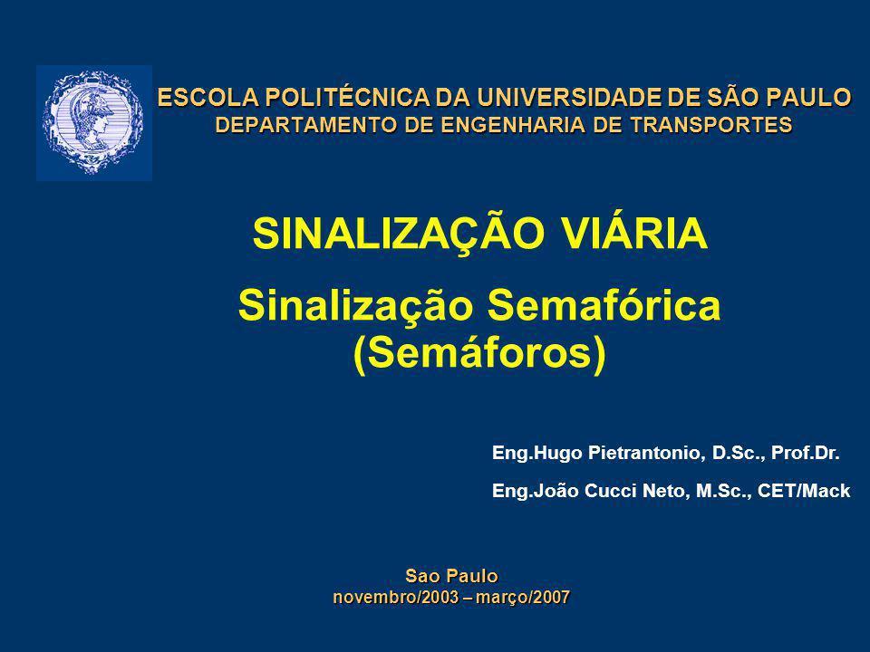 31/5/201412 Grupo focal de regulamentação: – para pedestres:Res.160/2004: não prevê (2 focos, focos circulares...