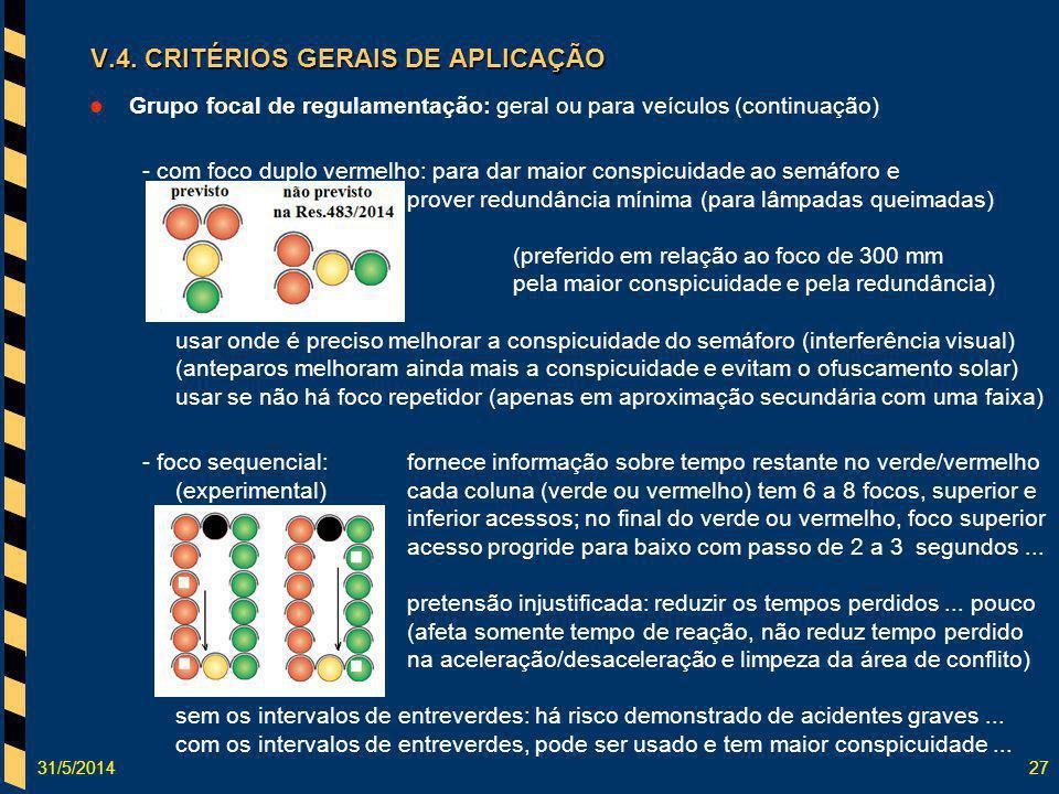 31/5/201427 Grupo focal de regulamentação: geral ou para veículos (continuação) - com foco duplo vermelho: para dar maior conspicuidade ao semáforo e