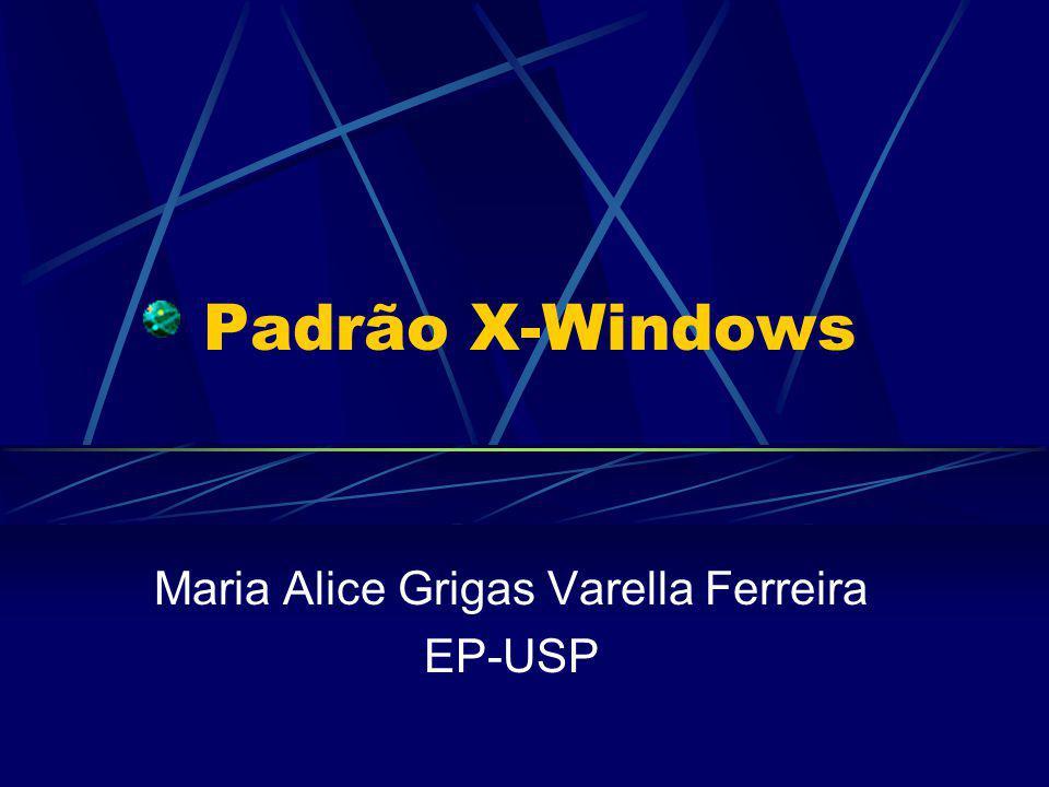Padrão X-Windows Maria Alice Grigas Varella Ferreira EP-USP