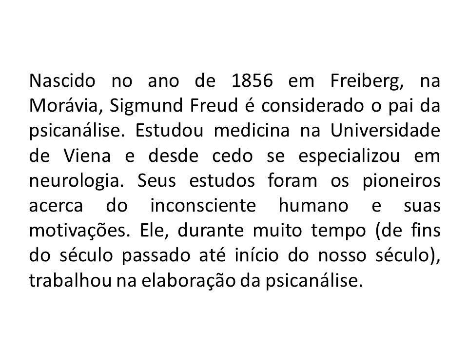 Nascido no ano de 1856 em Freiberg, na Morávia, Sigmund Freud é considerado o pai da psicanálise. Estudou medicina na Universidade de Viena e desde ce