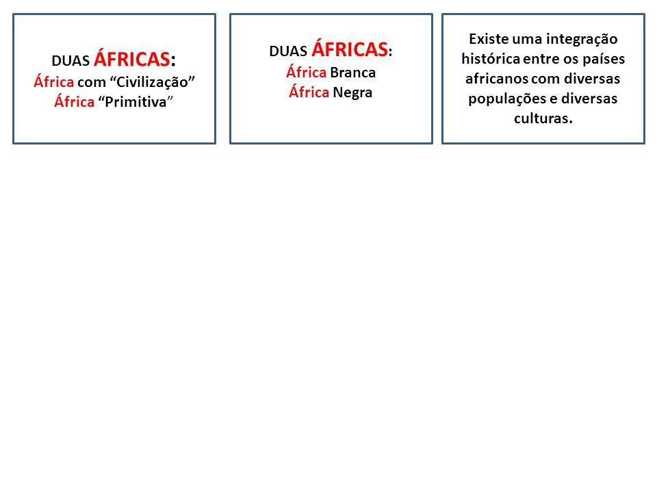 Existe uma integração histórica entre os países africanos com diversas populações e diversas culturas.
