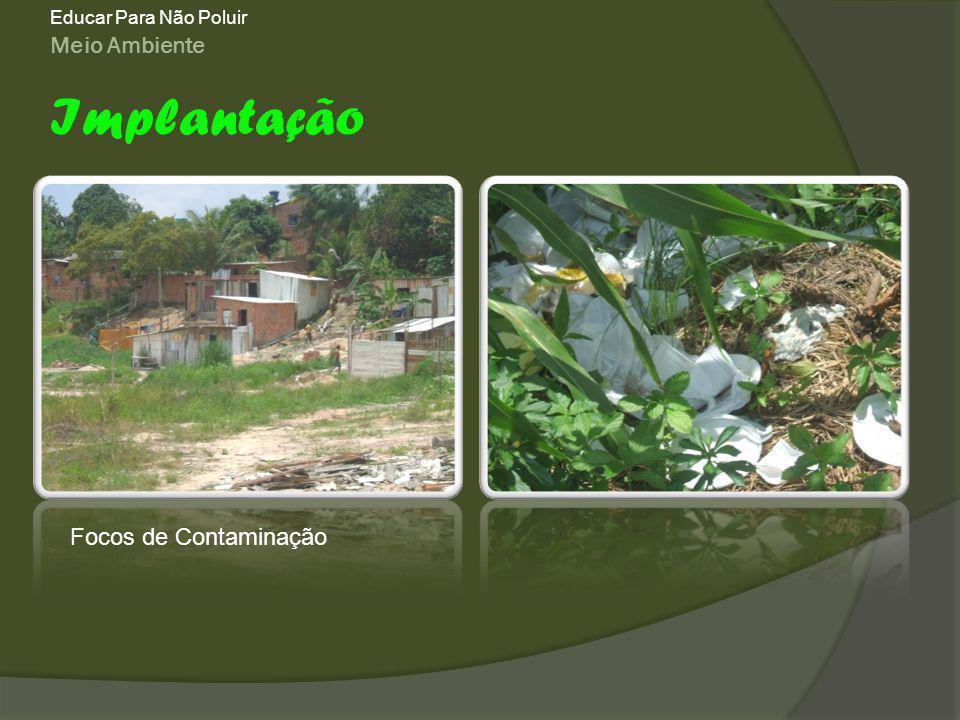 Meio Ambiente Educar Para Não Poluir Implantação Focos de Contaminação