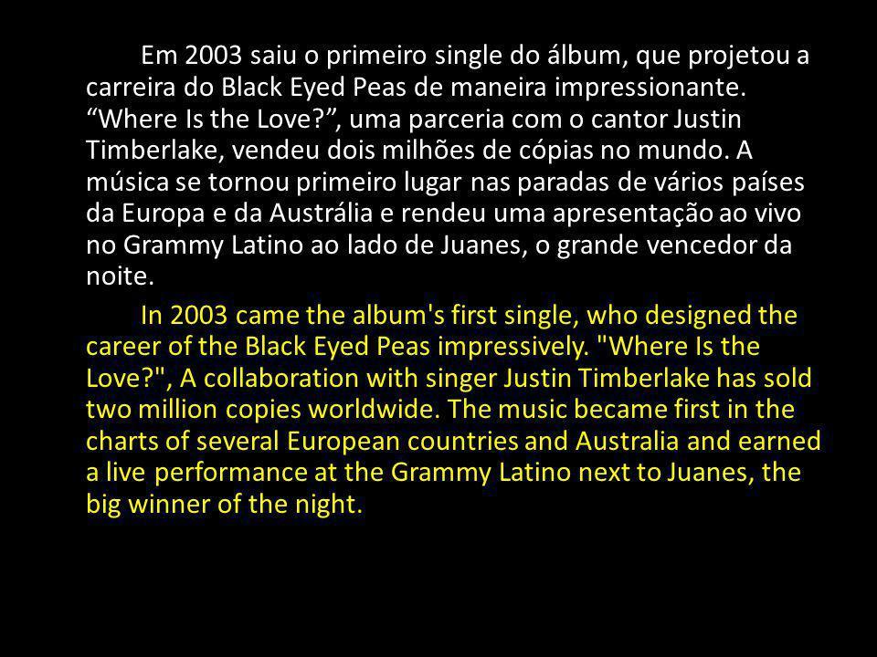 A canção está no terceiro álbum, lançado também em 2003, Elephunk.