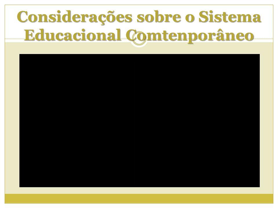 Considerações sobre o Sistema Educacional Comtenporâneo