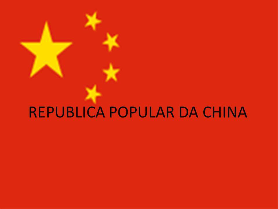 BANDEIRA DA CHINA A bandeira da República Popular da China foi adotada em 27 de setembro de 1949.