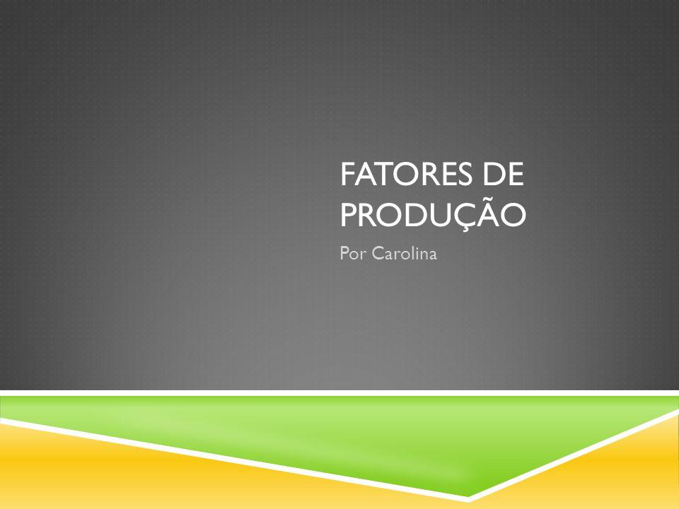 Fatores de Produção Trabalho (mão de obra) Terra (terreno) Capital: -circulante -fixo