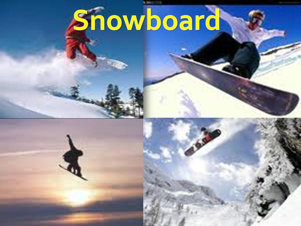 O Snowboard ou Snowboarding é um esporte que, tal como o skate e o surfe, consiste em equilibrar-se sobre uma prancha, este porém se faz na superfície nevosa das encostas de montanhas - como o esqui.