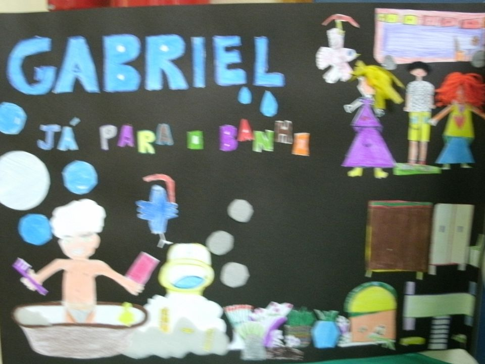 1.Os pais mandaram Gabriel para o banho.