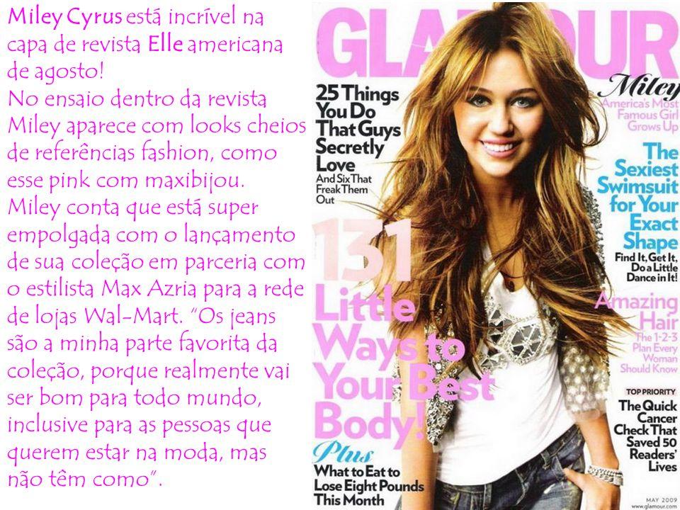 Miley Cyrus está incrível na capa de revista Elle americana de agosto.