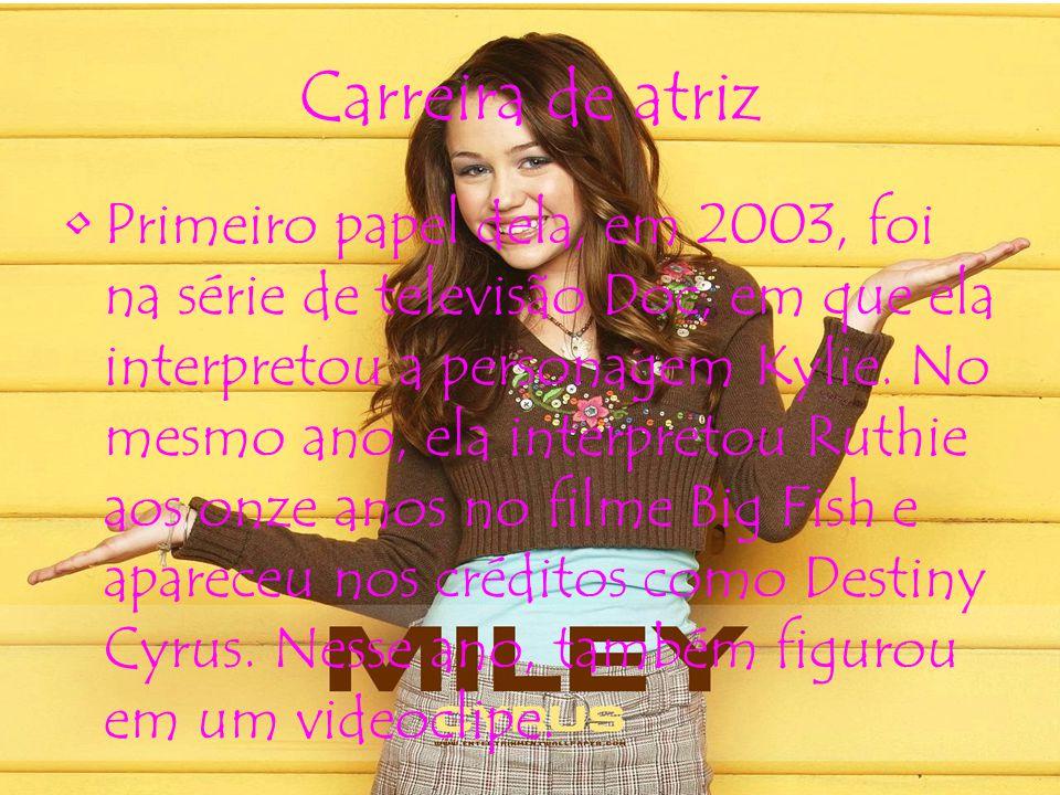 Carreira de atriz Primeiro papel dela, em 2003, foi na série de televisão Doc, em que ela interpretou a personagem Kylie.