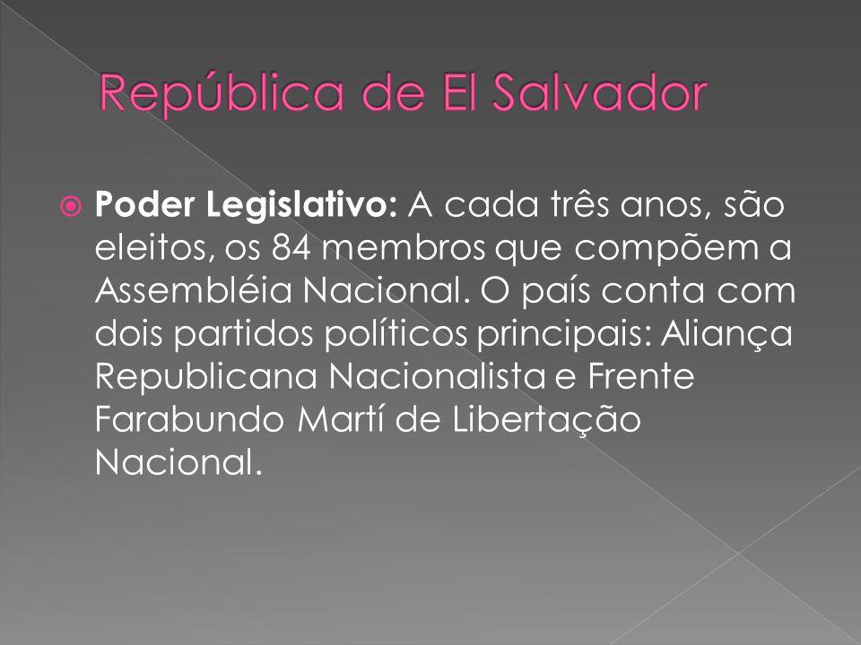 Poder Legislativo: A cada três anos, são eleitos, os 84 membros que compõem a Assembléia Nacional.