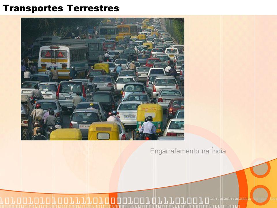 Transportes Terrestres Engarrafamento na Índia