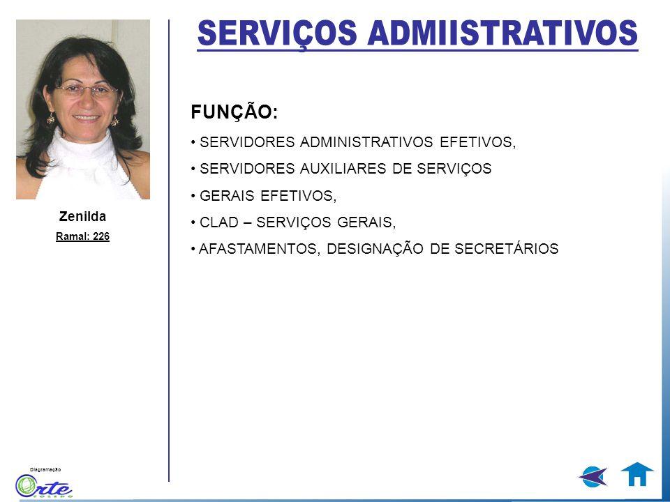 Diagramação Zenilda Ramal: 226 FUNÇÃO: SERVIDORES ADMINISTRATIVOS EFETIVOS, SERVIDORES AUXILIARES DE SERVIÇOS GERAIS EFETIVOS, CLAD – SERVIÇOS GERAIS,