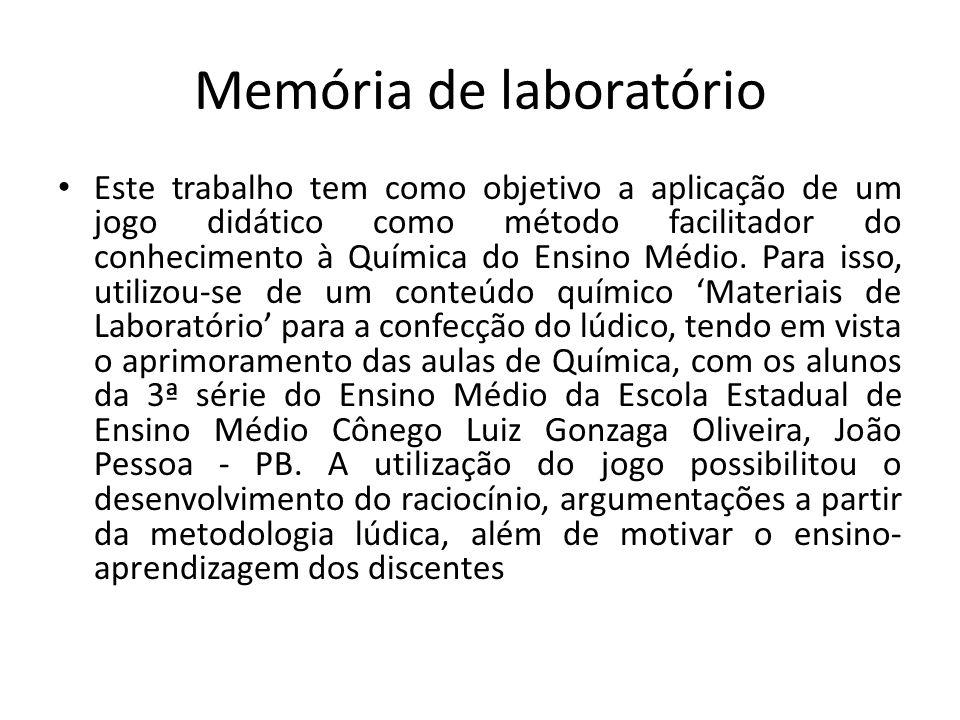 Figura 1: Memória no laboratório Figura 2: Alunos Memória no Laboratório