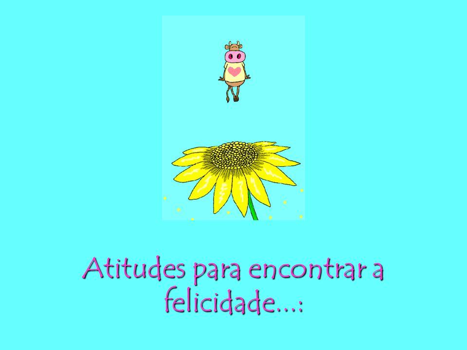 Atitudes para encontrar a felicidade...: