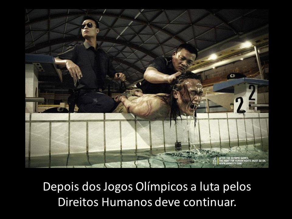 Depois dos Jogos Olímpicos a luta pelos Direitos Humanos deve continuar.