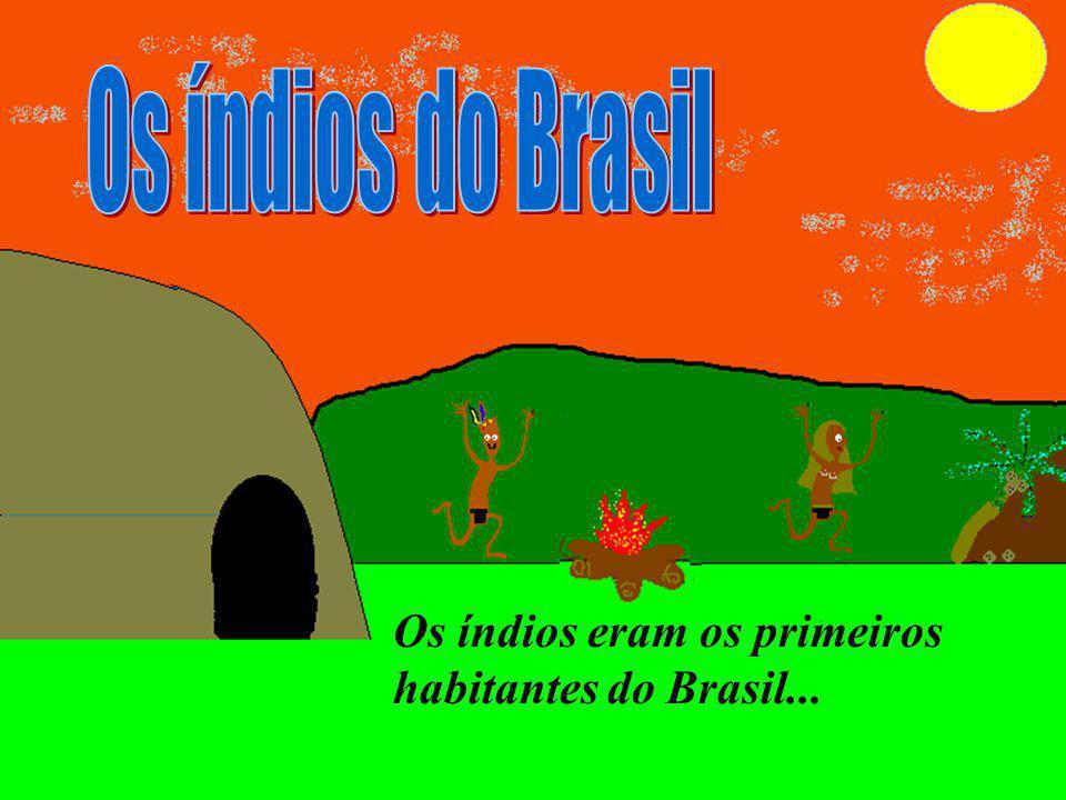Os índios eram os primeiros habitantes do Brasil...