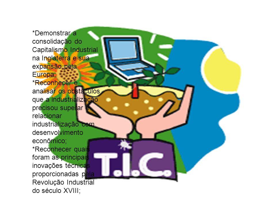 ATIVIDADES: *Exposição de transparência referente a grande transformação ocorrida com a Revolução Industrial, onde em seguida cada educando iria expor suas observações; *Interpretação no grande grupo das atividades propostas, e logo após anotações individuais das mesmas; *Elaboração de conceitos: REVOLUÇÂO INDUSTRIAL, LIBERDADE DE ESCOLHA e PROLETARIADO; *Analise do gráfico referente a Revolução Industrial; *Leitura e debate do texto a REVOLUÇÃO INDUSTRIAL SE ESPALHA; *Análise e interpretação de imagens sobre as idéias do liberal ADAM SMITH; *Dividir o grande grupo em duplas, onde estes iriam ler, interpretar e analisar detalhadamente os textos, comparando em seguida, as condições de Vida da Classe Trabalhadora de antigamente com as condições de hoje, elaborando um relatório;