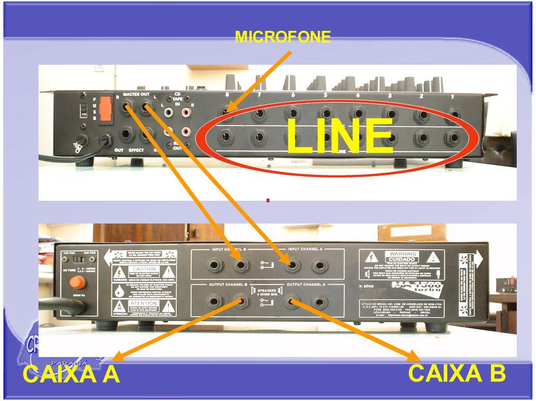 MICROFONE LINE CAIXA B CAIXA A