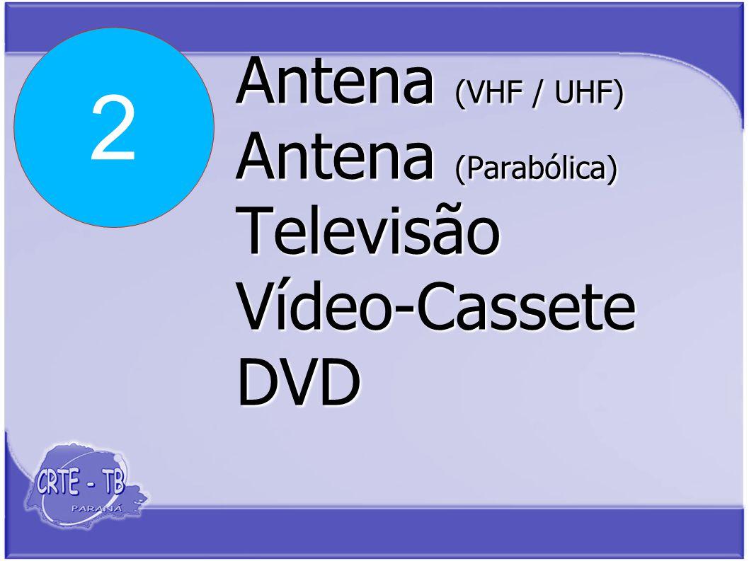 Antena (VHF / UHF) Antena (Parabólica) Televisão Vídeo-Cassete DVD 2