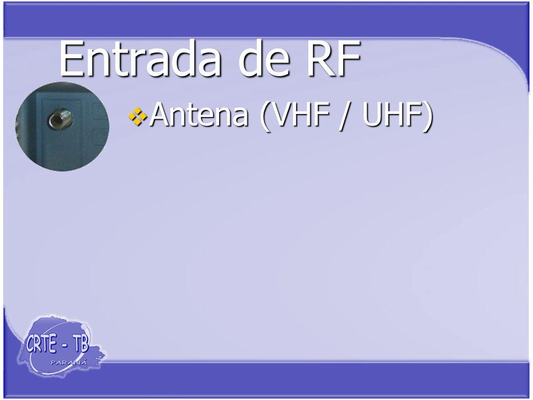 Entrada de RF Antena (VHF / UHF) Antena (VHF / UHF)