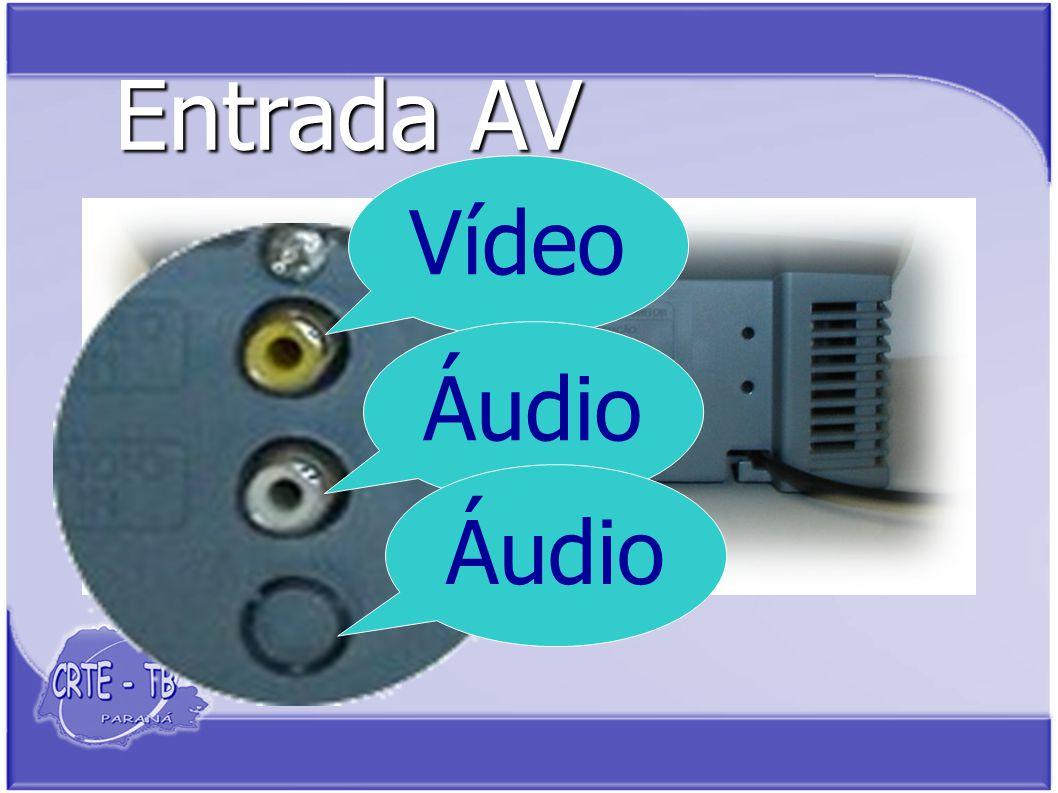 Entrada AV Vídeo Áudio