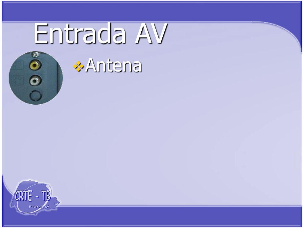 Entrada AV Antena Antena