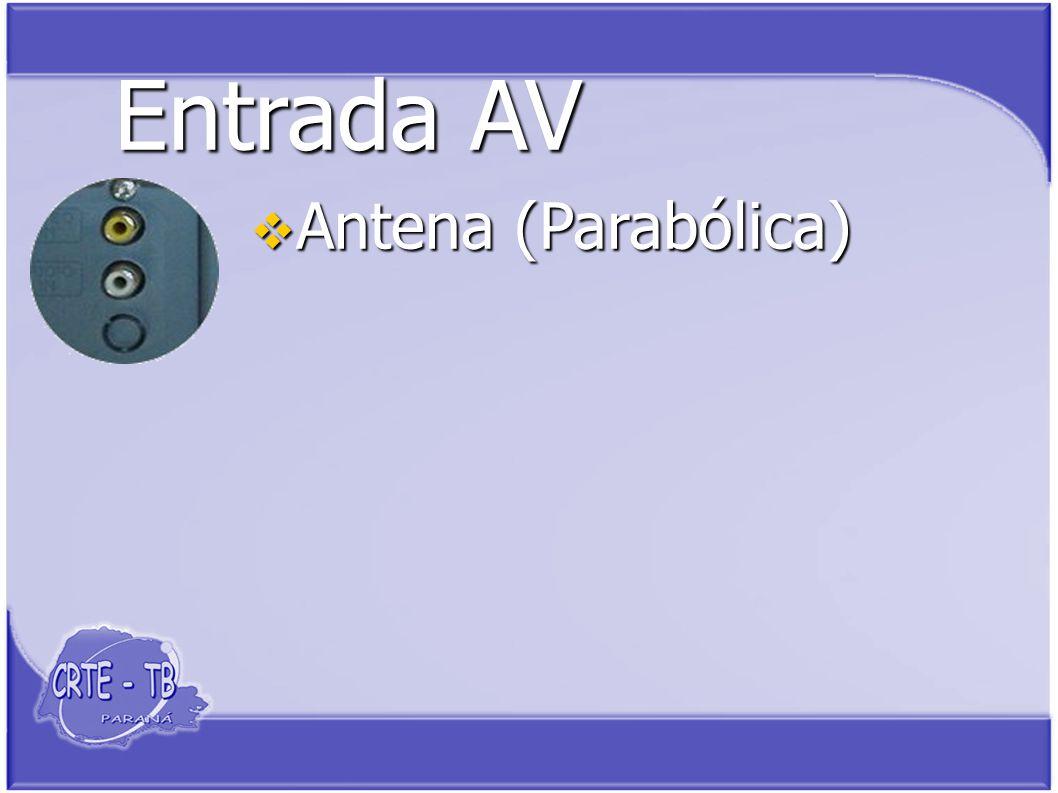 Entrada AV Antena (Parabólica) Antena (Parabólica)