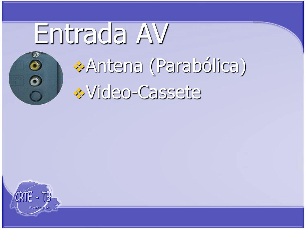 Entrada AV Antena (Parabólica) Antena (Parabólica) Video-Cassete Video-Cassete