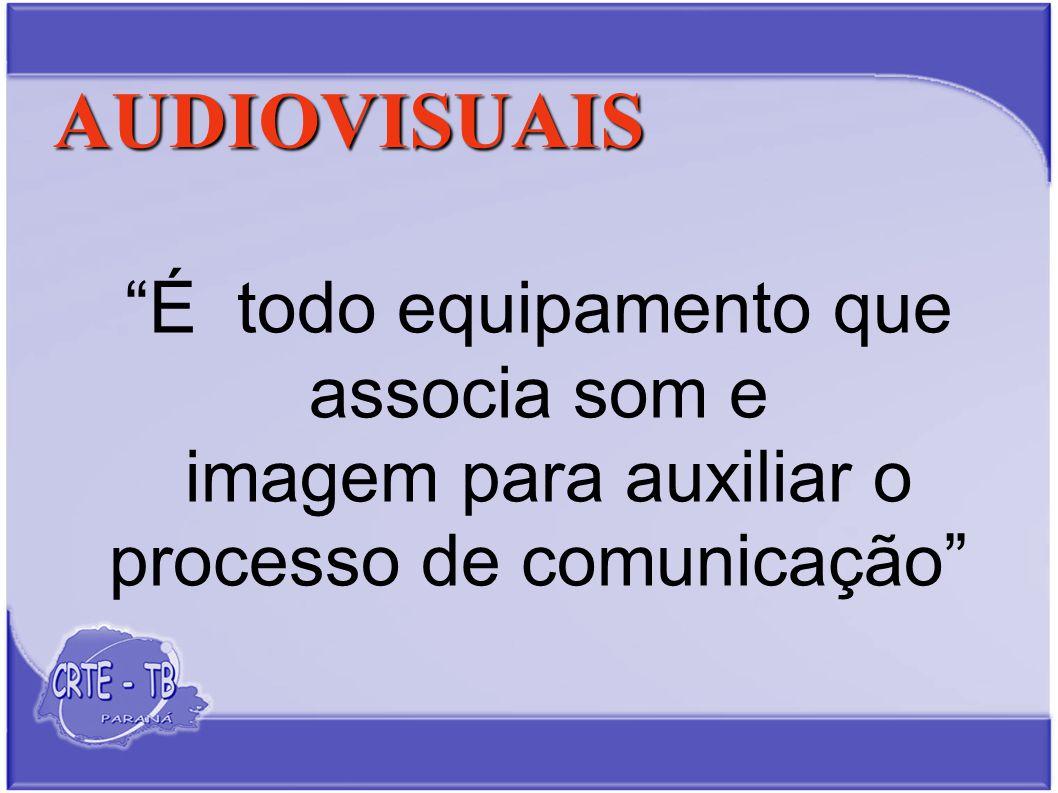 AUDIOVISUAIS É todo equipamento que associa som e imagem para auxiliar o processo de comunicação