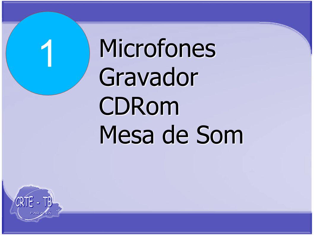 Microfones Gravador CDRom Mesa de Som 1